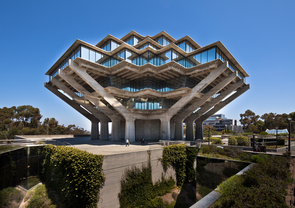 "William Pereiras ""Geisel Library"" der UC San Diego"