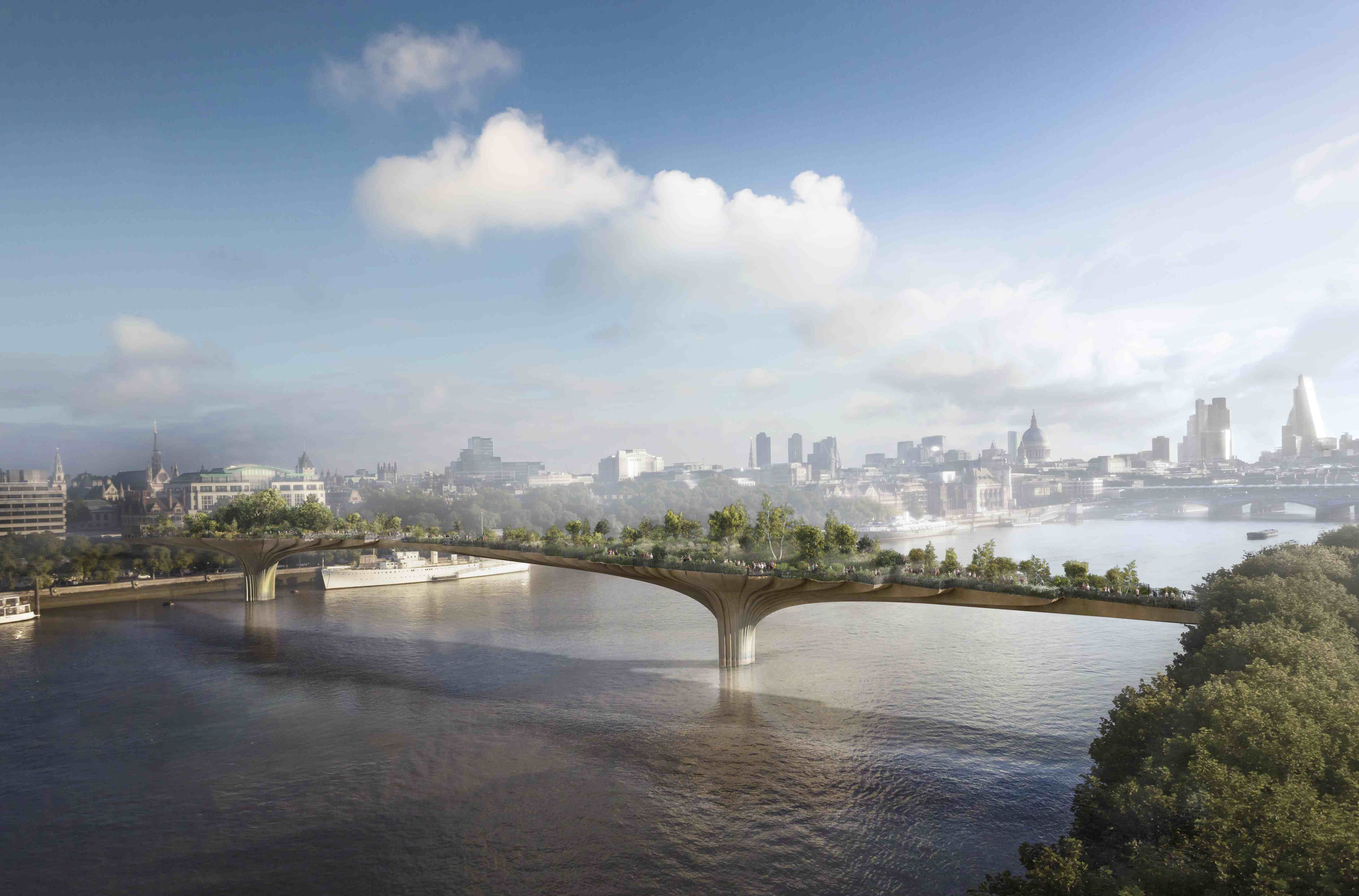Die Garden Bridge in London