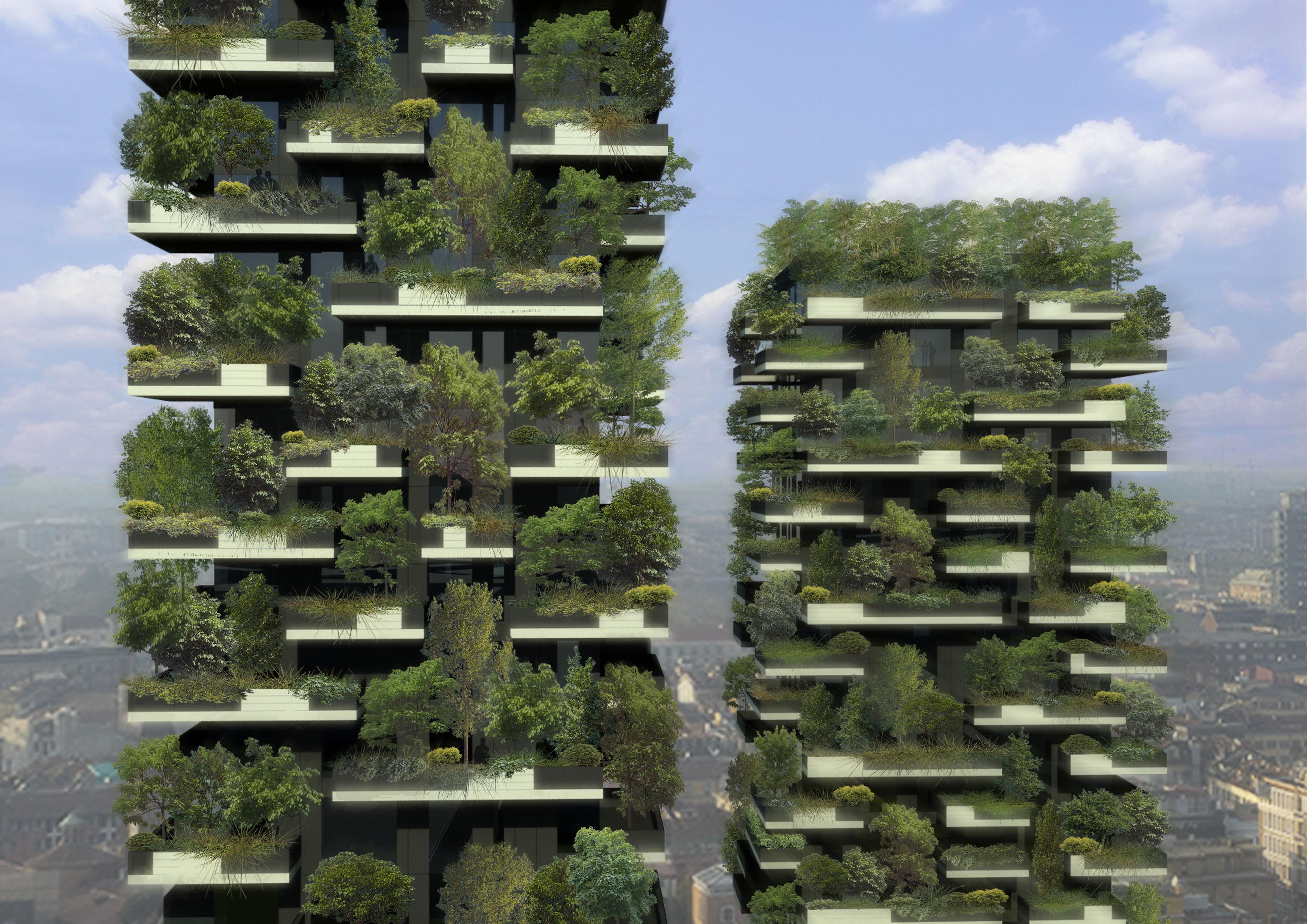 In Mailand entsteht ein vertikaler Wald auf zwei Hochhäusern