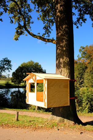 Das build it yourself-Baumhaus aus den Niederlanden, ein baumfreundliches Pissoir und die Boombank!