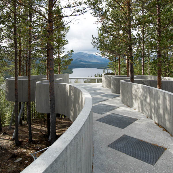 Die Sohlbergplassen Aussichtsplatform in Norwegen